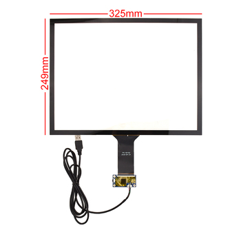 15 inch 4:3 325*249mm Capacitive Screen USB Interface Plug and Play with Control Card