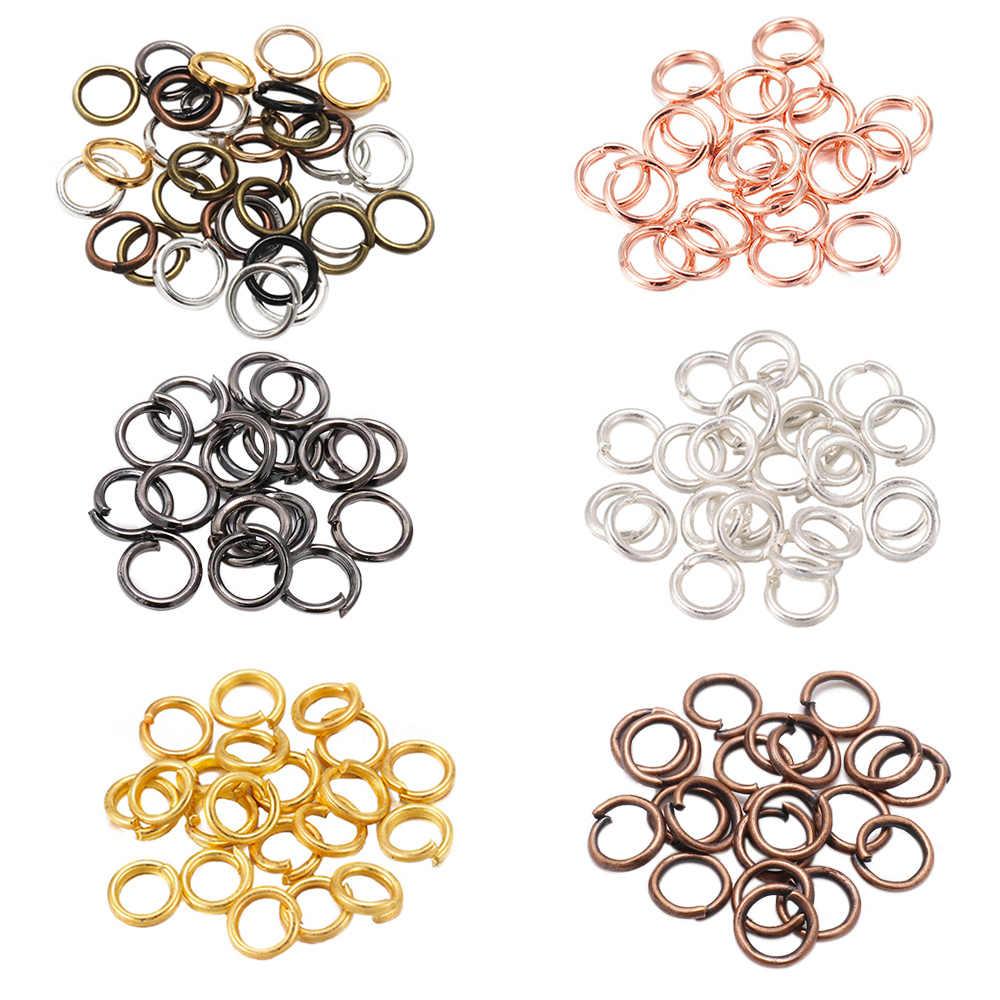 200 ชิ้น/ล็อต 4 5 6 8 10 มม.แหวนแยกแหวนสำหรับDIYเครื่องประดับค้นหาอุปกรณ์เสริมขายส่งอุปกรณ์