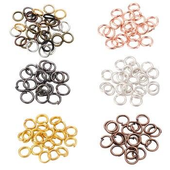 200 pçs/lote 4 5 6 8 10 mm anéis de salto split conectores para diy jóias encontrando fazer acessórios suprimentos por atacado