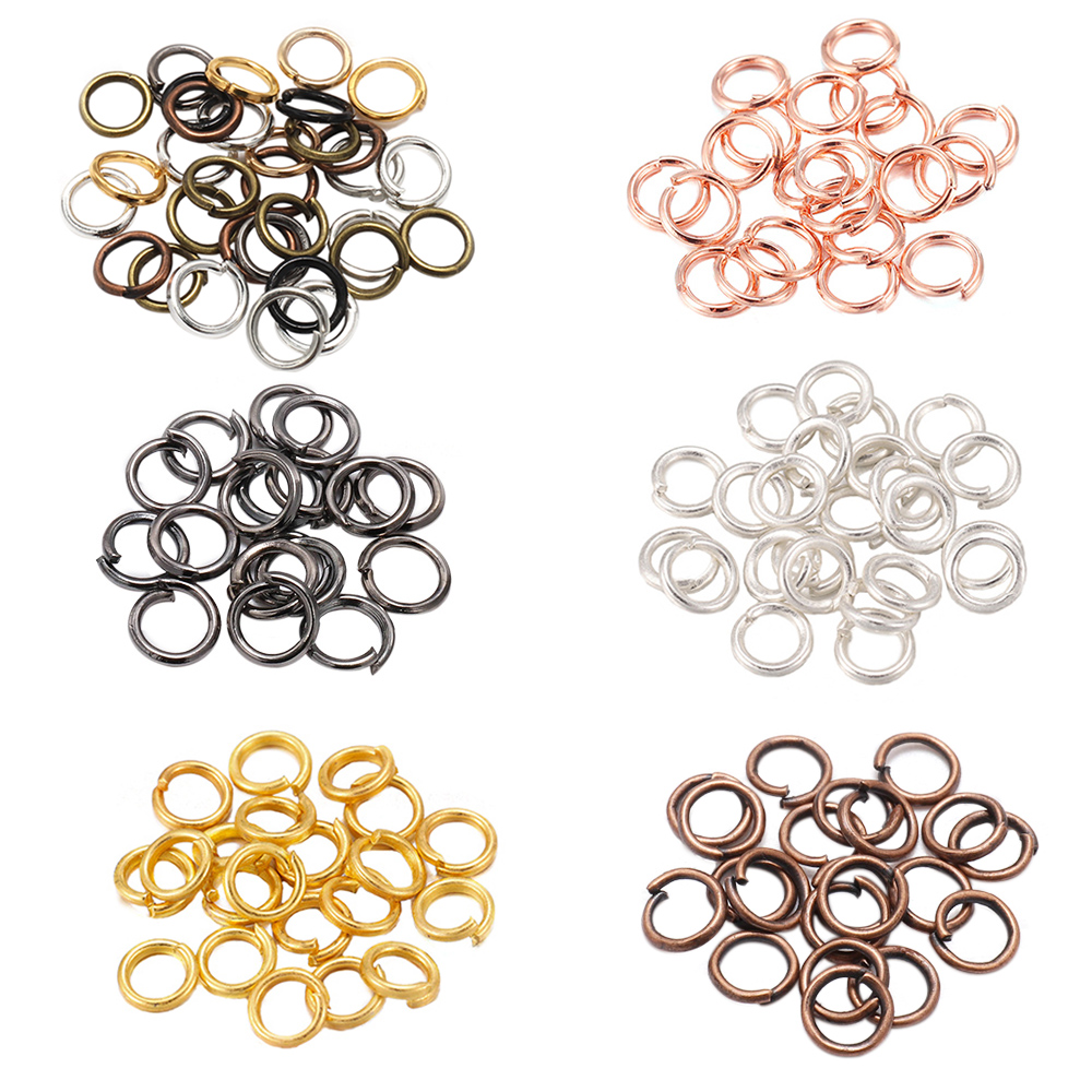 200pcs/lot 4 5 6 8 10 mm Jump Rings Split Rings Connectors For Diy Jewelry Finding Making Accessories Wholesale Supplies(China)