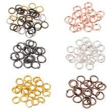 50-200 sztuk/partia 4 5 6 8 10 mm pierścienie skoku podział pierścienie złącza dla Diy biżuteria znalezienie Making akcesoria hurtownia dostaw