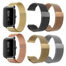 Milanese Metall Armband Armband Für Amazfit Bip Uhr Strap Für Xiaomi Huami Amazfit Bip Jugend Uhr Milanese Edelstahl