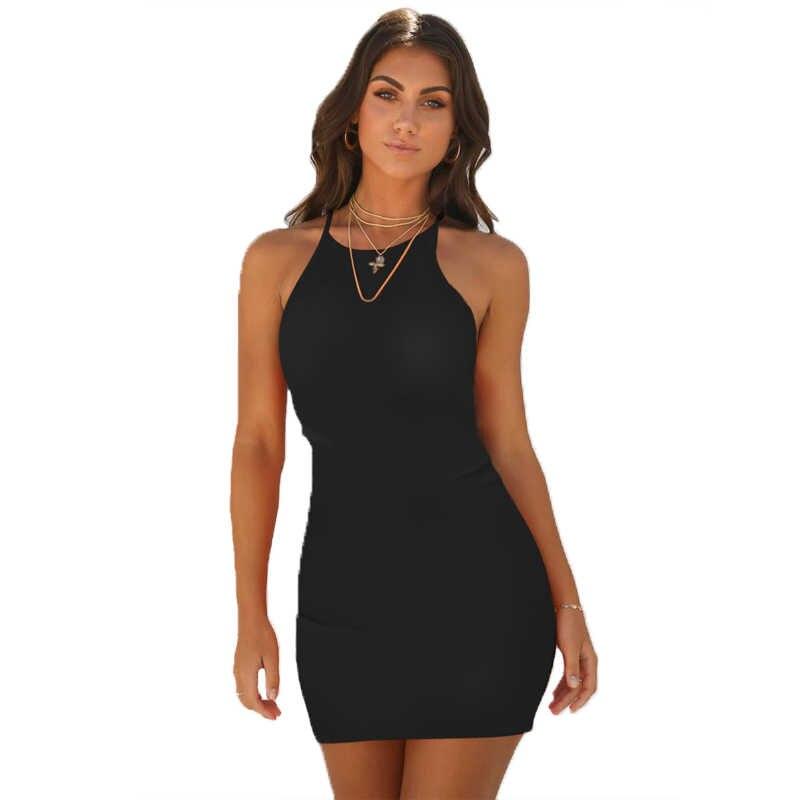 Verano mujer Sexy Casual Bodycon negro blanco vintage vendaje vestido sin mangas sin tirantes corto fiesta Playa Club mini vestido