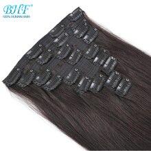 Bhf полная голова клип в человеческих волос для наращивания 160 г до 280 г натуральные человеческие волосы remy волосы Клип Ins
