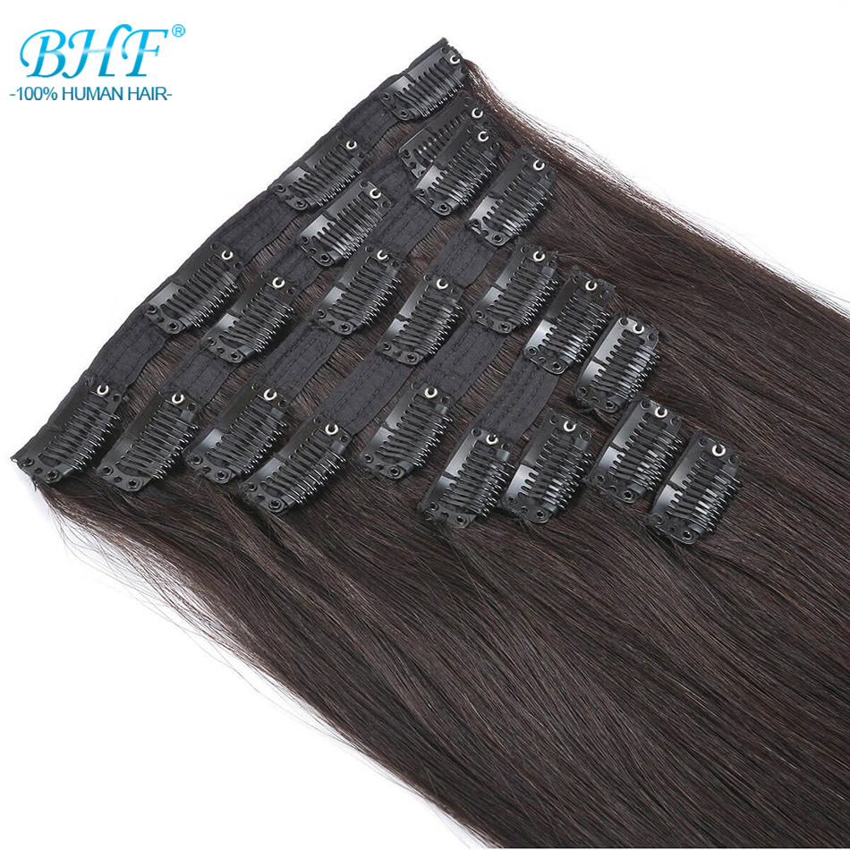 BHF Full Head Clip In Human Hair Extensions 160g To 280g Natural Human Hair 100% Remy Hair Clip Ins