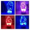 У нас 3D игра лампа 16 RGB Цвета светодиодный Ночной светильник LED Настольная лампа домашний вечерние атмосферу праздника декор атмосфера прик...