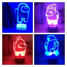 Unter Uns 3D Spiel Lampe 16 RGB Farben LED Nachtlicht Tisch Home Party Urlaub Atmosphäre Decor Atmosphäre Nacht Nacht geschenk Spiel