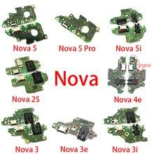 Złącze dokujące Micro USB ładowarka Port ładowania Flex Cable mikrofon płyta dla Huawei Nova 2S 3 3i 5i 3e 4e 5 Pro