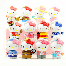 12Pcs/set Korean Version Cute Kawaii Cats Figures Toys Anime Cartoon Cats PVC Action Figures Model Mini Puss Model Toy Lady Gift cute nyan board cat in danboard mini pvc action figures collectible model toys gifts 10pcs set 7cm