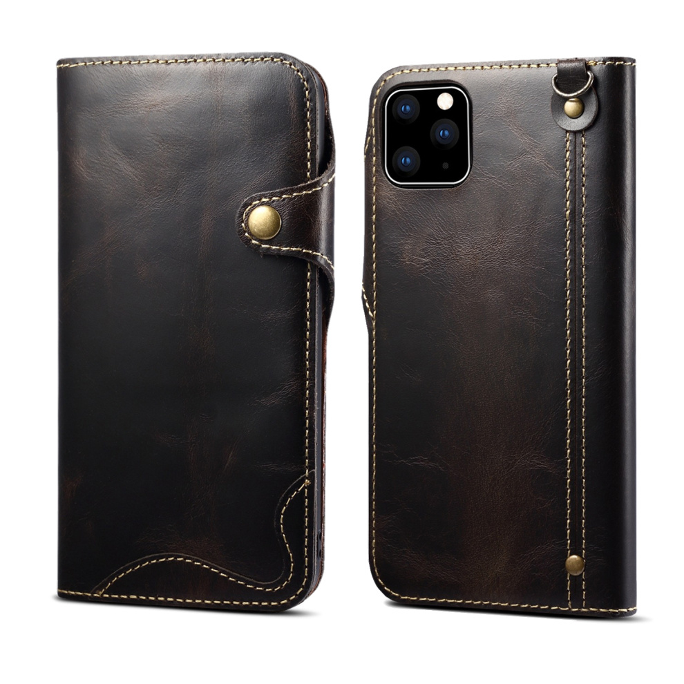 Durable Genuine Leather Wallet Case for iPhone 11/11 Pro/11 Pro Max 1