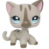 Лпс стоячки кошки Игрушки для кошек lps, редкие подставки, маленькие короткие волосы, котенок, розовый#2291, серый#5, черный#994,, коллекция фигурок для питомцев - Цвет: 468