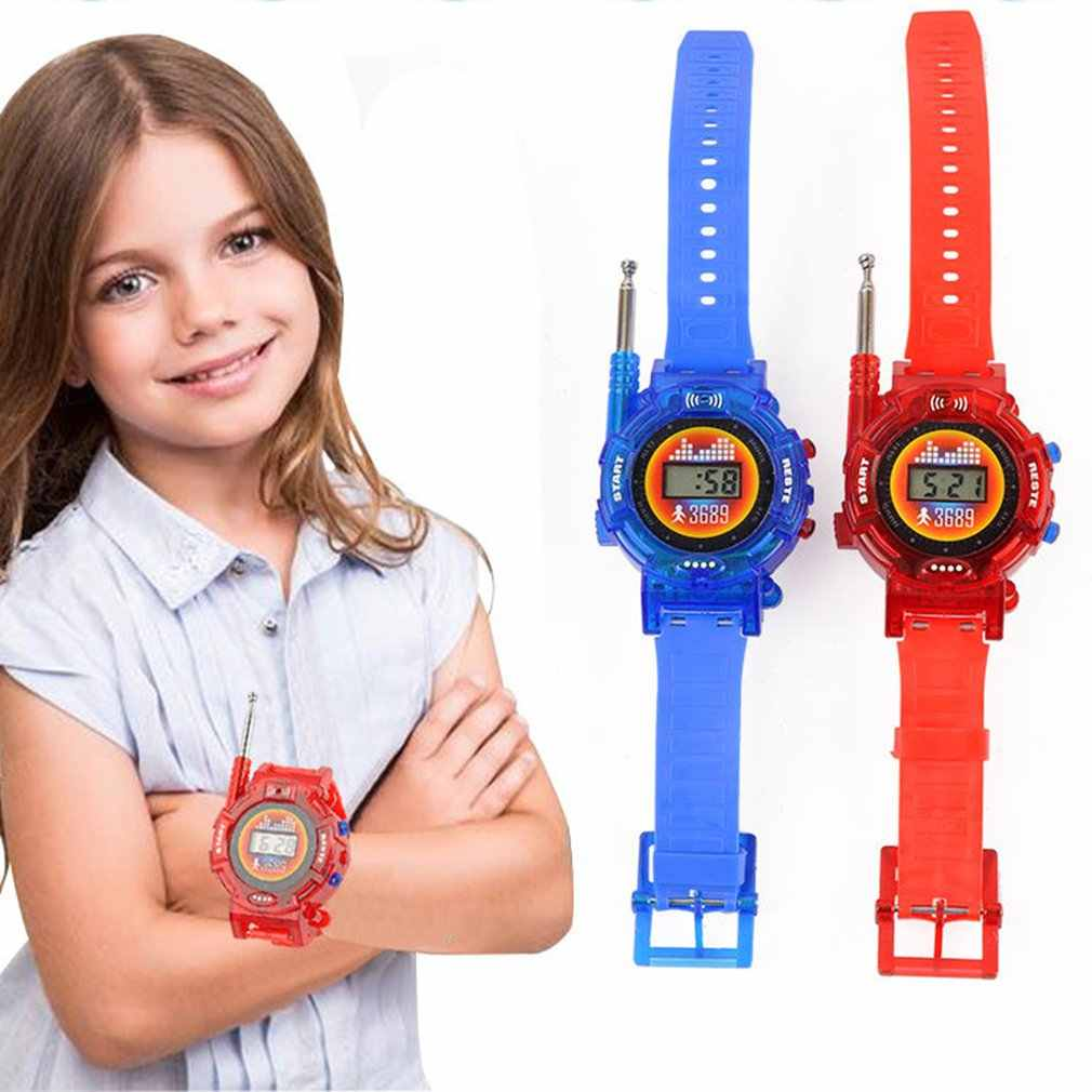7 w 1 walkie-talkie zegarek elektroniczny Radio Interphone Watch dzieci zabawki do zabawy na zewnątrz prezent gra dla dzieci gadżet transformator zegarki