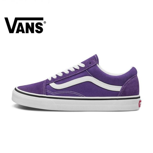 US $50.0 |VANS OLD SKOOL Men and Women Shoes Classic Original Authentic Outdoor Sports Street Fashion Casual Purple 2019 New VN0A4BV5V7F on AliExpress
