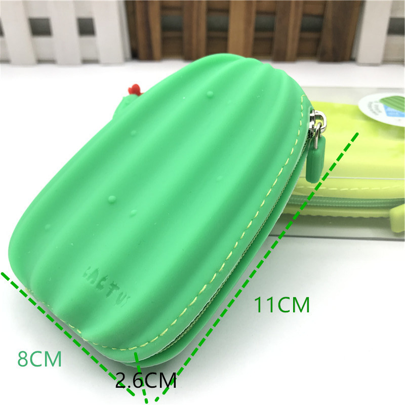 Creative Simple Purse Cute Soft Silicone Cactus Radish Carry-on Key Coin Bag Card Bag Children Gift