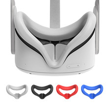 Grainy anti-skid Oculus Quest 2 VR glasses for PC virtual reality. Silicone anti-sweat and anti-leak VR headset