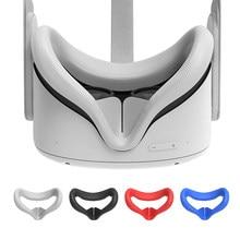 Óculos granulados anti-skid oculus quest 2 vr para a realidade virtual do computador. Silicone anti-suor e anti-vazamento vr fone de ouvido