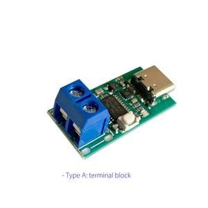 "Image 3 - ZY12PDN פ""ד DC דמה זיהוי סוג C PD2.0 3.0 מהיר טעינה הדק מודול קלפי HID תכנות מודול 5A 100W"