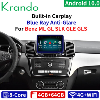 Krando Android 10.0 9'' 4G 64G Car Radio for Mercedes Benz SLK ML GL GLS GLE 2011-2018 NTG 4.5 5.0 Multimedia Audio Bluetooth image