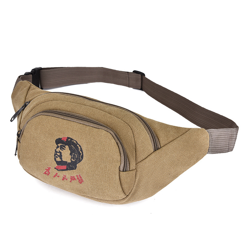 2019 Spring New Style Canvas Waist Pack Men And Women Multi-functional Outdoor Sport Waist Bag Large Capacity Cash Storage Bag