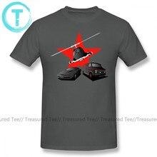 T-Shirt manches courtes homme, en coton, avec image de héros de l'airwolf 80 S, taille 4XL