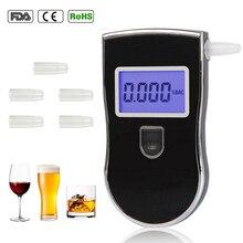 AT818 полицейский тестер алкоголя Профессиональный цифровой дыхательный быстродействующий Алкотестер для водителей