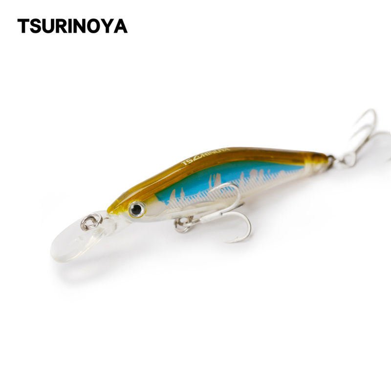 TSURINOYA Sinking Minnow Fishing Lure DW41 65mm 6.0g  Depth 0.8-1.2m Hard Baits Artificial Bait With Treble Hook Wobblers