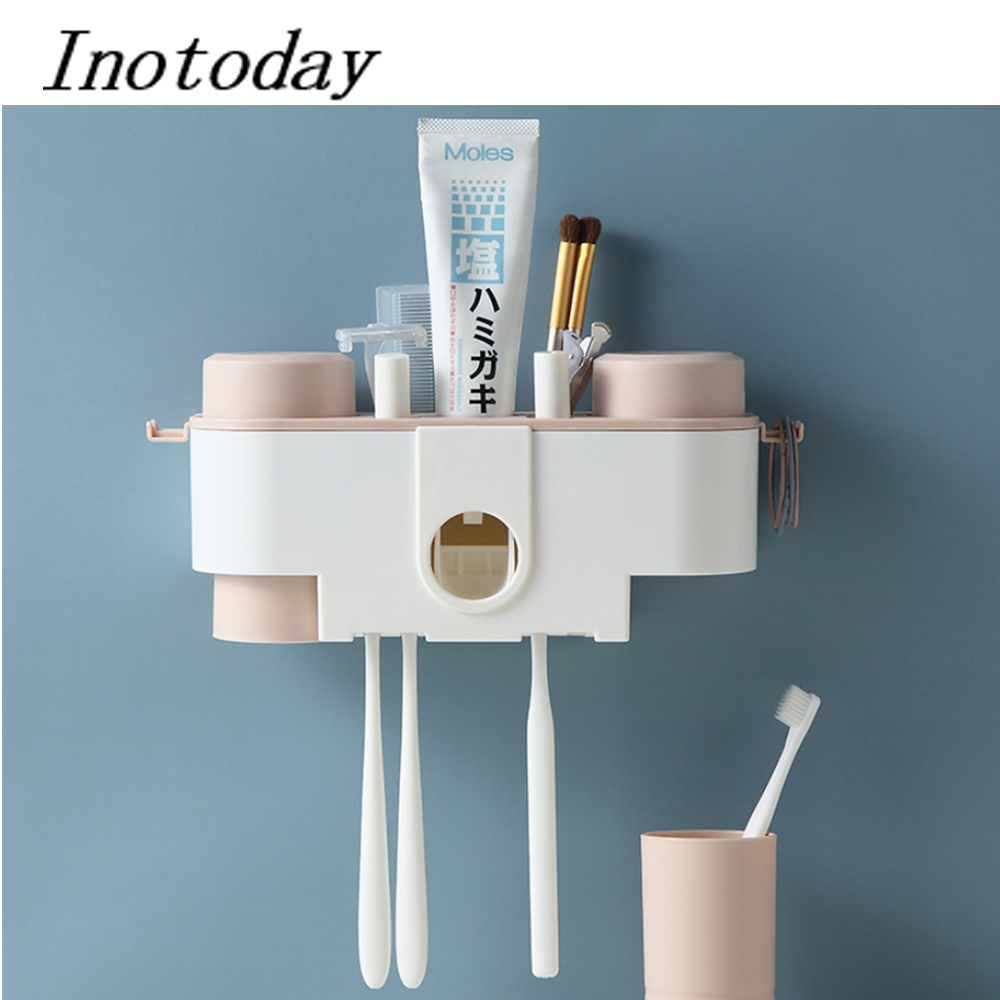 espremedor de pasta de dente Automatic toothpaste squeezer dispenser bathroom accessories holder stander wall mounted organizer
