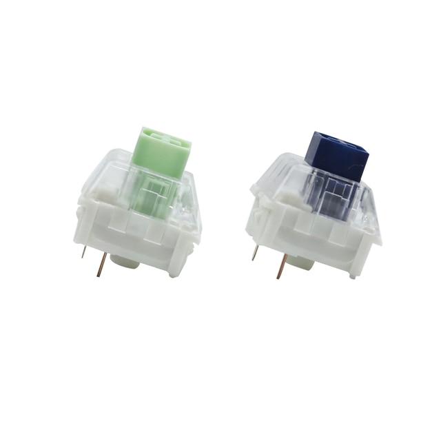 Kailh caixa marinha jade clicky caixa interruptor ip56 à prova de água para teclado mecânico compatível cherry mx switches 3pin