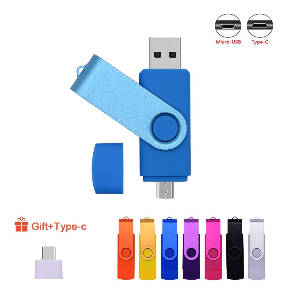OTG Usb флеш-накопитель, флешка 128 ГБ, 64 ГБ, 32 ГБ, 16 ГБ, 8 ГБ, 4 Гб, флеш-накопитель, Usb 2,0, карта памяти, флеш-диск 3 в 1