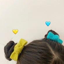Милая шерстяная повязка для волос с сердечками девочек ярких