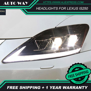 Car Styling Head Lamp case for Lexus IS250 Headlights Lexus IS250 2006-2012 LED Headlight DRL Lens Double Beam Bi-Xenon HID