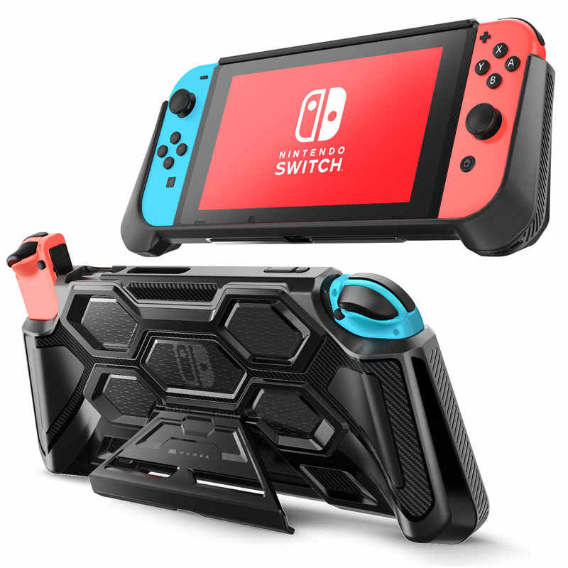 For Nintendo Switch Case Battle Series Mumba Heavy Duty Grip Cover For Nintendo Switch Console with Comfort Padded Hand Grips