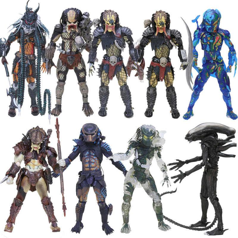 20 Cm Neca Predator Hutan Setan Hutan Pemburu Bertopeng PVC Action Figure Model Mainan Predator Action Figures, Mainan