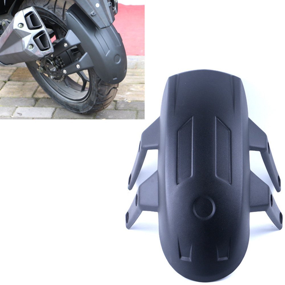Universal Black Plastic Motorcycle Rear Wheel For Fender Splash Guard Rear Wheel Cover Guard Mudguard W/Bracket Accessories