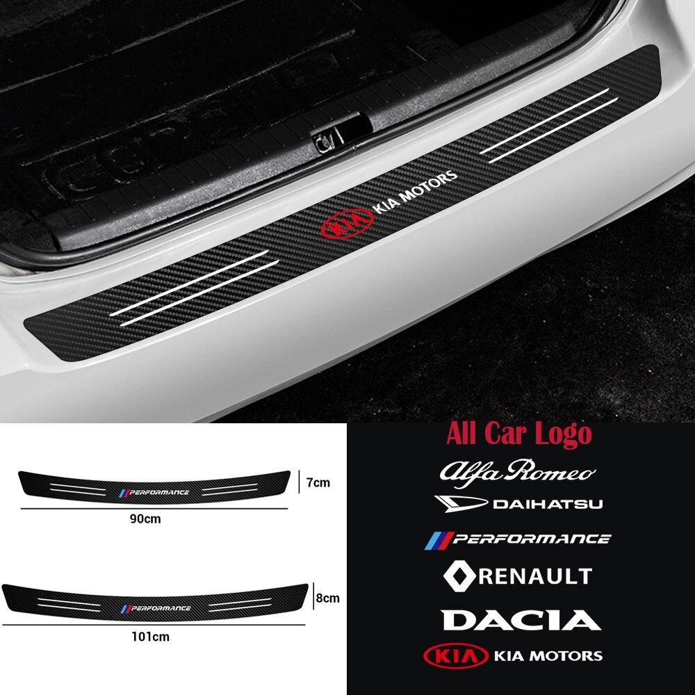 Автомобильный Стайлинг, защитная пластина для багажника, задний бампер из углеродного волокна, защитная наклейка для Mazda 3 6 Axela demio MS MPS CX8 CX3 CX5...