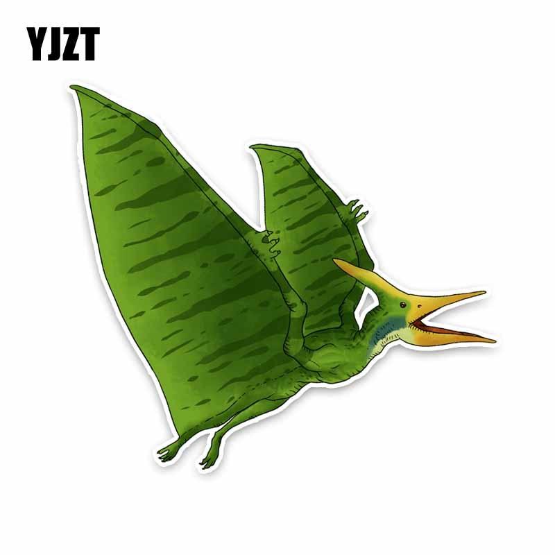 YJZT 14 см * 15,7 см зеленые животные Птерозавр ПВХ высокого качества автомобиля стикер наклейка C29-0688