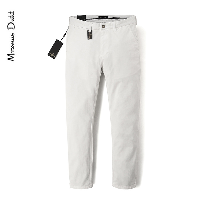 Men's Trousers Genuine Product Spring And Summer Pencil Pants Elasticity Simple Light Mill Slim Fit Men's Trousers Type Awesome