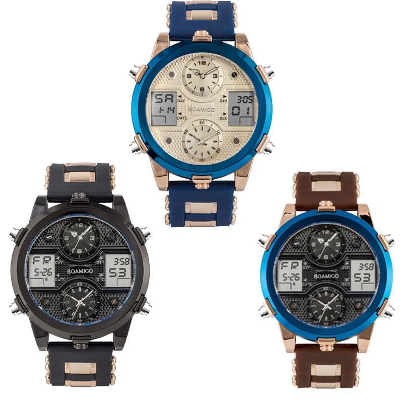 Image 5 - BOAMIGO Watch Men Top Luxury Brand Men Sports Watches Mens Quartz LED Digital Clock jam tangan men relogio masculinoQuartz Watches   -