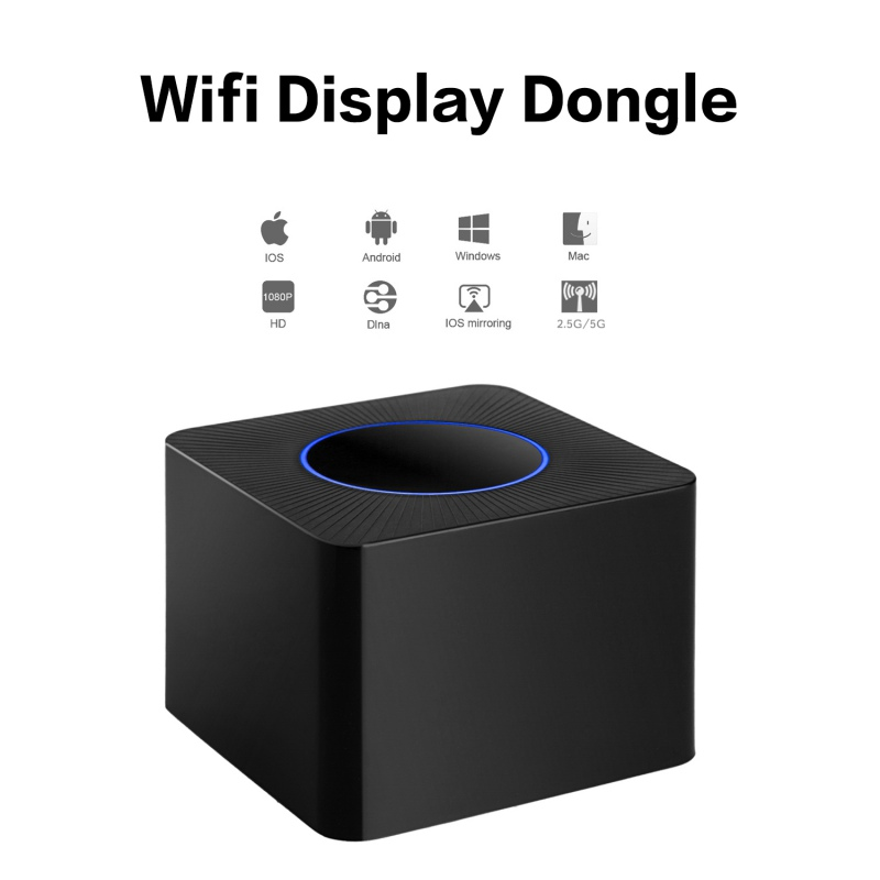 Q2 WiFi Display Dongle 5G & 2.4G Dual-band Wireless Screen Mirroring Adapter 1080P H RJ45 Ethernet Port Screen Sharing Device