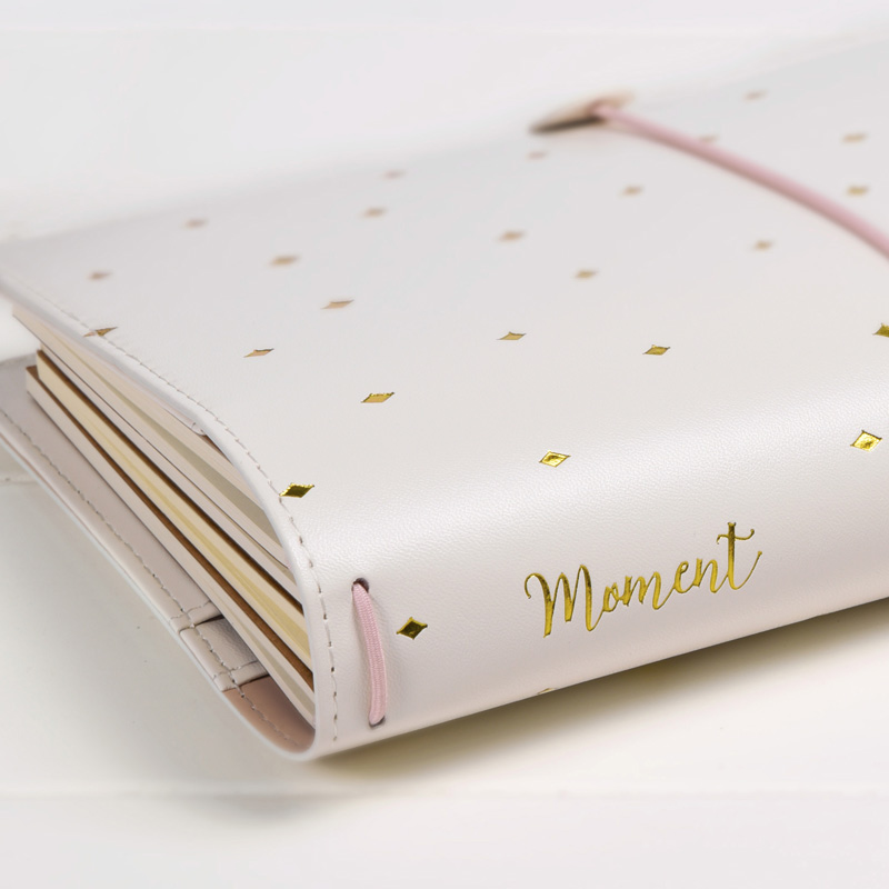 TN Standard Journal Traveler Notebook White PU Spiral Planner Lovely Girl Diary Book 3Refiller Papers Free PVC Cover