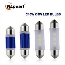 Nlpeal 2x сигнальная лампа c10w c5w светодиодная лампочка накаливания