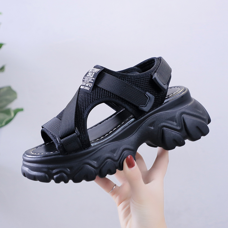 2020 Designers Women Platform Sandals Fashion Woman Chunky Casual Shoes INS Ulzzang Beach Black White Gladiator Sandal Ladies