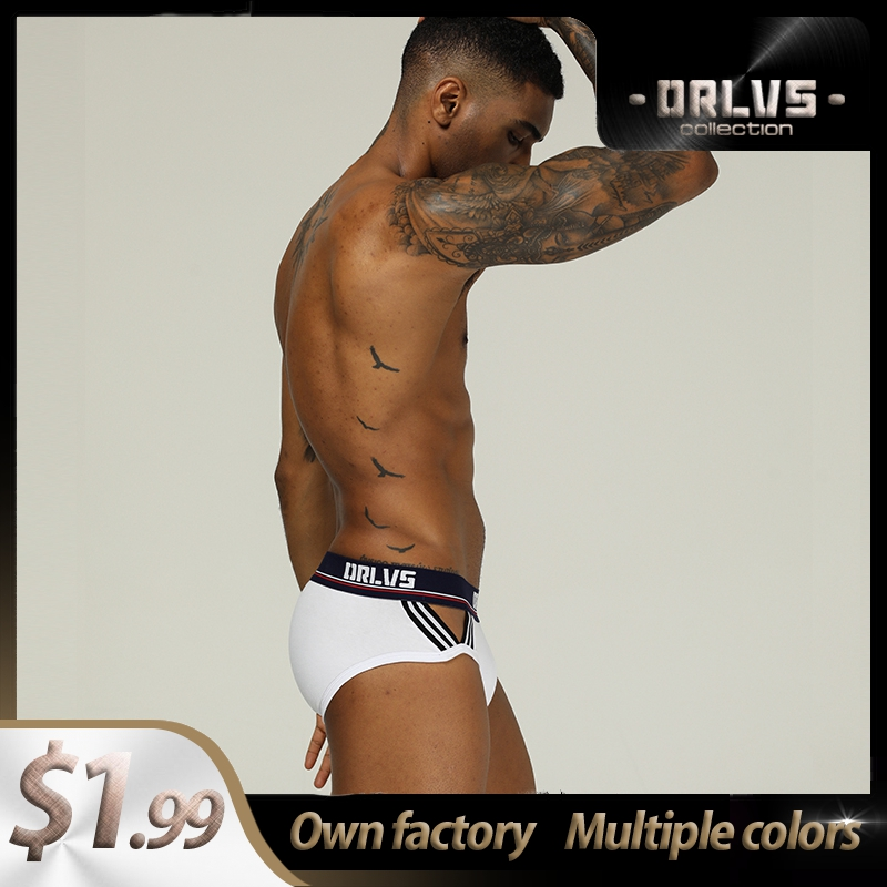 Ins Style Cotton Breathable Mens Briefs Underwear Shorts Male Underwear Sexy Gay Men Underwear Bikini Men Briefs Under Wear Man
