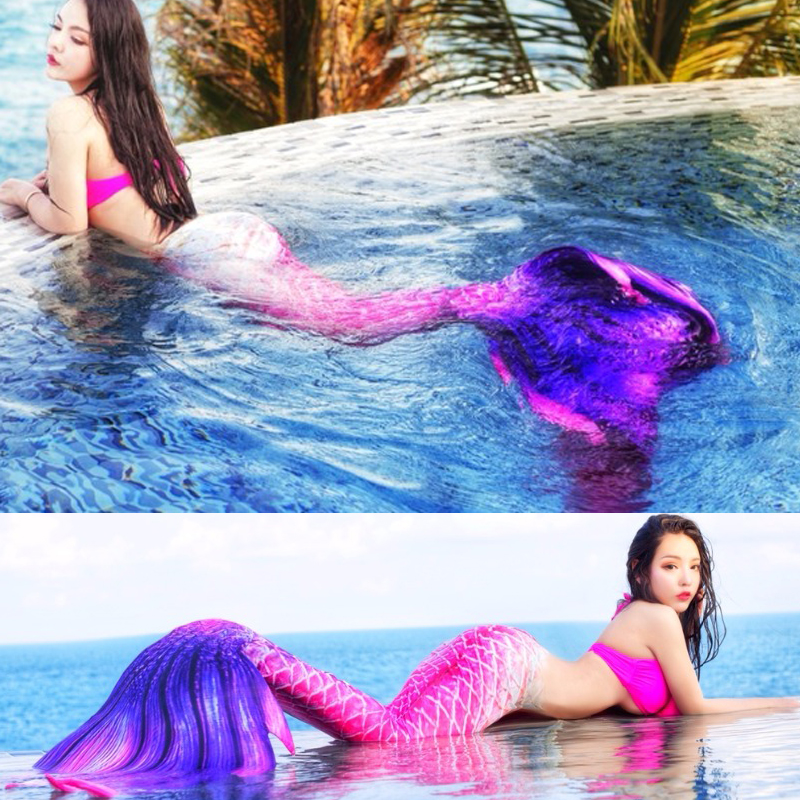 New Mermaid Tail Adult Kids Customized For Swimming Swimsuit Tail And Fins Mermaid Tails With Monofin Swimmable Cosplay Costumes