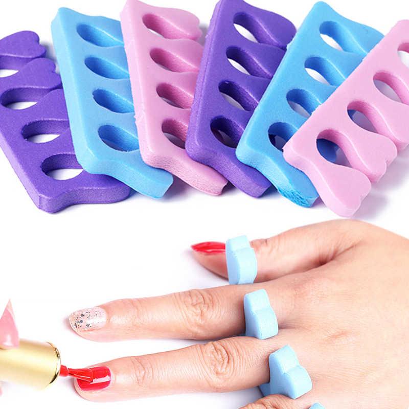 2Pcs เครื่องแยกนิ้วเท้าทำเล็บมือเล็บเท้าฟองน้ำนุ่มเจล UV Divider เครื่องมือ Salon ภาษาโปลิชคำ Professional โฟมเล็บเครื่องมือ