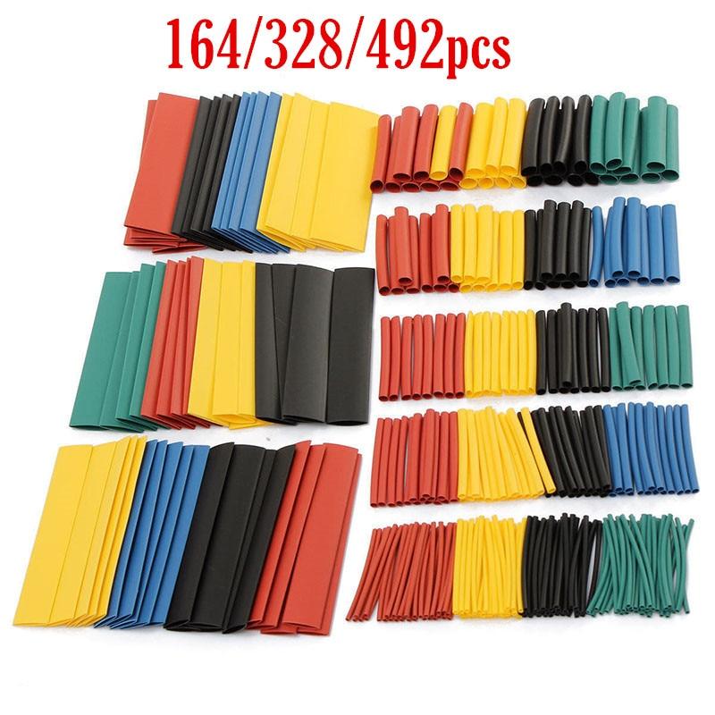 Kit de manches de câbles en fil 21 | Ensemble de 164/328/492 tubes thermorétractable disolant assortis