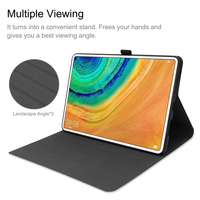 style protective For Huawei MatePad Pro 10.8 Inch Tablet Case Business Style Folding Stand Protector Case TPU+PU Leather Tablet Protective Cover (2)