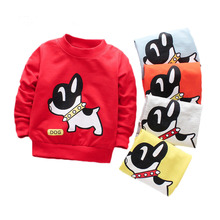 Baby Girl Cute T Shirts Dog Pattern Cotton Boys T Shirts For Baby Boy Spring Long Sleeve Kids Clothes Tees Baby Boys T-shirts