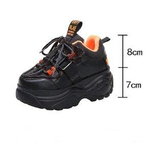 Image 2 - Женские кроссовки на платформе; Зимняя Теплая Обувь На Шнуровке; Модная повседневная обувь с высоким берцем; Женские кроссовки на толстой подошве; Deportivas Mujer