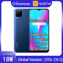 Realme C15 4GB 64GB Globale Version Android 10 Handy 6.5